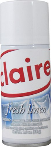 Claire C-221 1.8 Oz. Fresh Linen Micro-Metered Air Freshener Aerosol Can (Case of 12)