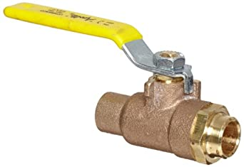 Apollo 95-200 Series Bronze Stop And Waste Ball Valve, Two Piece, Inline, Lever, Solder End