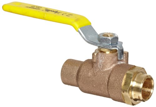 Apollo 95-200 Series Bronze Stop And Waste Ball Valve, Two Piece, Inline, Lever, 1