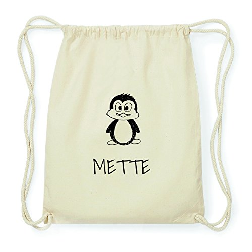 JOllipets METTE Hipster Turnbeutel Tasche Rucksack aus Baumwolle Design: Pinguin PpJ1P2n
