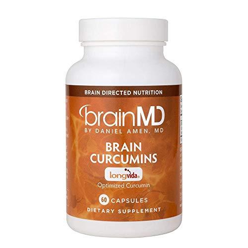 Cheap Dr Amen Brain MD Brain Curcumins – 500 mg Longvida Curcumin Extract, 60 Capsules – Memory Support Supplement, Lessens Physical Fatigue – Gluten Free – 60 Servings