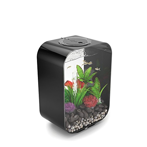 biOrb LIFE 15  Aquarium with LED Light – 4 Gallon, Black by biOrb