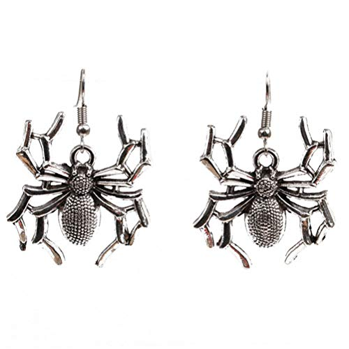 Halloween Spider Hand Goth Halloween Drop Earrings Bone Earrings Skull & Bones Silver for girls Costume Jewelry 1 pari