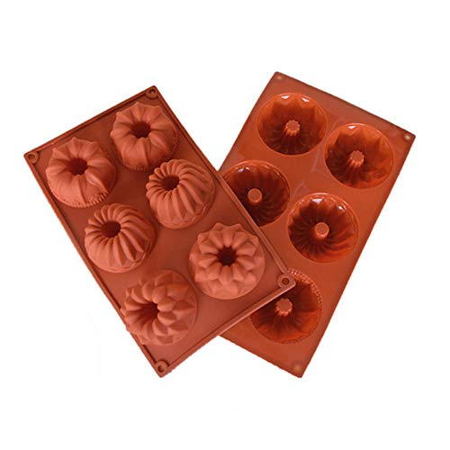 Silconce Baking Mould,DiDaDi Food Grade Silicone Non Stick Cake Bread Mold For Thanksgiving Chocolate Jelly Candy Baking Bakeware Mold 6-Cavity -