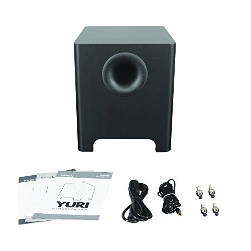 "Kanto 8 Inches 120 Watts 8"" Long-throw Driver Subwoofer, Black (YURI) 9"