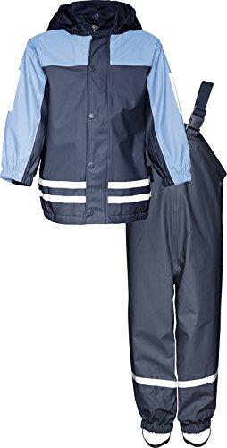 Playshoes Regen-Anzug mit Fleece-Futter 408698 Unisex - Kinder Regenmntel, Gr.116 (Herstellergröße: 5-6 Jahre), Blau (639)