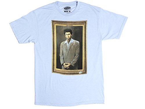 Ripple Junction Seinfeld The Kramer Adult T-Shirt Small Heather Light Blue (Seinfeld Elaine)