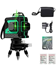 3D 12 Lines Green Laser Levels, VMOPA 360° laser level self leveling, 360 Horizontal And Vertical Cross Super Powerful Green Laser Beam Line with Fine Tuning Rotary Base