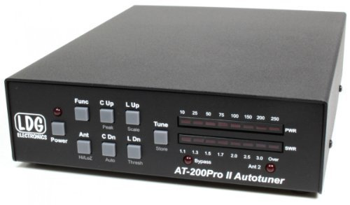 LDG Electronics AT-200PROII Automatic Antenna Tuner 1.8-54 MHz, 5-250 Watts SSB and CW. 100 watts on 6M. 75 watts with PSK or digital modes. 2 Year Warranty