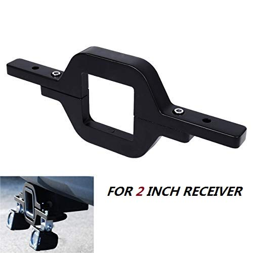 Partol 2.5 Tow Hitch Mount Bracket Universal for LED Backup Reverse Lights Rear Search Lighting Off Road Dual LED Work Light Fit Trailer Truck SUV RV Pick Up