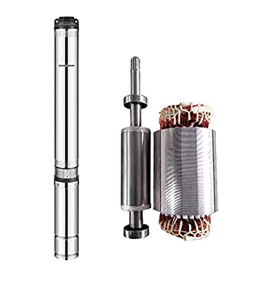 """SCHRAIBERPUMP 4"""" Deep Well Submersible Pump 1HP, 230v, NEW EXCLUSIVE AXIAL LOAD DESIGN, 242'head, 105PSI max, 22GPM, 2wire, Thermal Protection, stainless steel, impregnated winding INCLUDES SPLICE KIT"""