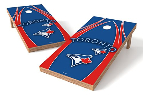Wild Sports MLB Toronto Blue Jays V Design Tailgate Toss XL with Shield, Multi, 48