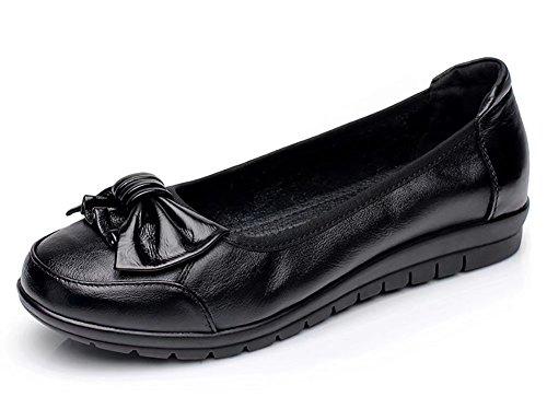 Sketo Women's Genuine Leather Comfort Ballet Flats Loafer Slip On