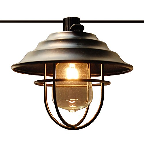Outdoor Lantern String Lights Bronze - 4