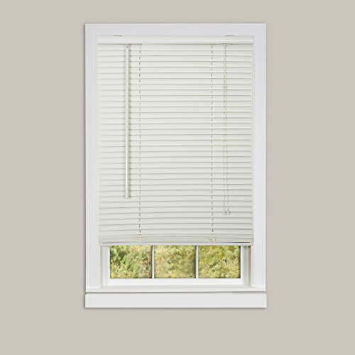 Ben & Jonah Deluxe Sundown 1″ Room Darkening Mini Blind 34×64-Alabaster Collection, Multi