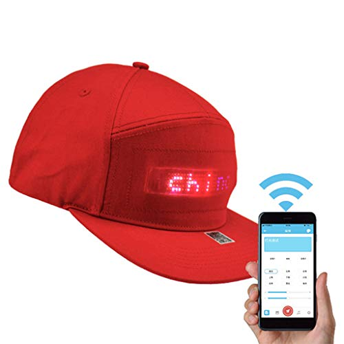 Aleola Fashion LED Hats for Men Women Baseball Halloween Birthday New Year's Christmas Party Hat