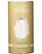 Stark reduziert: HARVEST REPUBLIC Bio-Whey Protein Pulver, 1x 400 g, 80% Proteingehalt, Organic Food, Gut löslich, Cremig und mehr