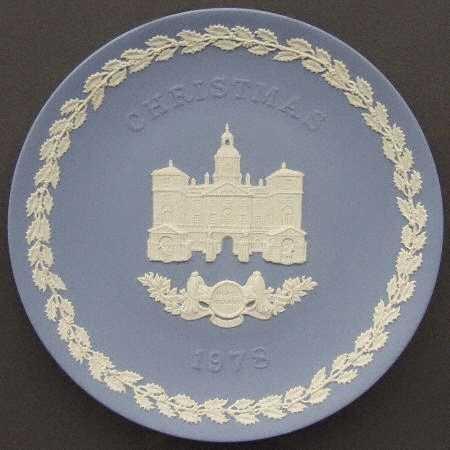 Wedgwood Jasperware Christmas Plate 1978