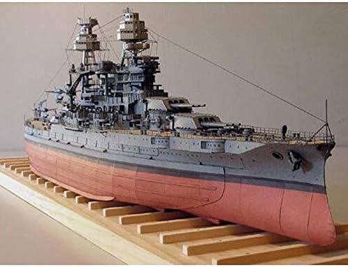 ELVVT 1:250ペーパークラフト米国BB-39アリゾナ戦艦の高難易子供大人ミリタリーファンのための手作りDIYクリエイティブ組立パズル玩具モデル収集ギフト
