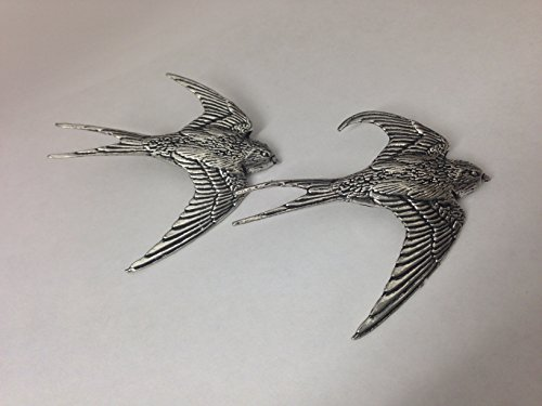 Swallow Mobile (B25 Swallow Fine English Pewter Cufflinks Handmade In Sheffield by prideindetails)