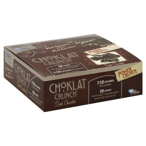 Choklat Crunch Belgian Dark Chocolate With Protein Crisps, 1.5-Ounce Boxes (Pack of 12)