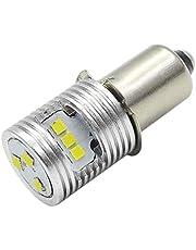 Ruiandsion Upgrade LED Zaklamp Lamp P13.5S Basislampen 6-24V High Power CSP 9SMD Chipset Vervanging voor Koplamp Zaklamp LED Conversie Kit Bulb, Niet-Polariteit (Pack van 1)