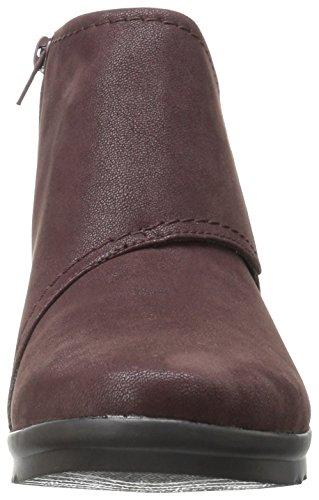 Clarks Womens Caddell Rush Boot, Burgundy, 8 M US