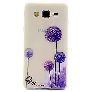 case cover para Samsung Galaxy On7,Crisant diente de león púrpura Diseño Protección suave TPU Gel silicona Teléfono Celular Back funda Carcasa para Samsung Galaxy On7