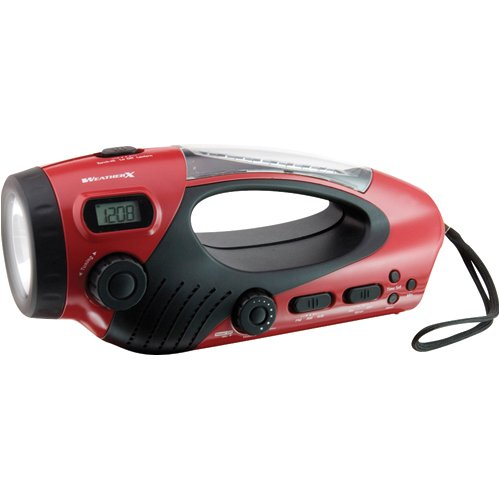 GPX WF308 Multi-function Flashlight Radio Combo (Red) (Discontinued by Manufacturer)