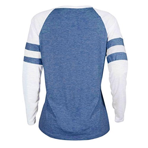 Blouse Shirt O Mode Tops Rawdah bleu Manches C Shirt T Patchwork Longues Femmes Tops Thanksgiving Pliss Blouse Dames Size Slim D'Impression Plus Color Pure Cou Casual IFFvZx6
