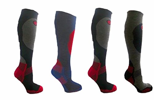 Men's Pack of 4 Long Hose High Performance Ski Socks (US 7-12) (Performance High Ski Sock)