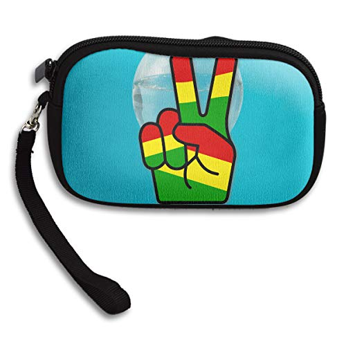 Peace Portable Printing Fingers Purse Receiving Bag Deluxe Small rpqrn4O