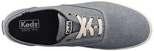 Keds Womens Champion Original Fashion Sneaker Chambray Navy
