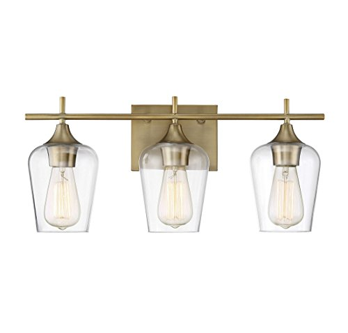 Savoy House Octave 3 Light Bath Bar 8-4030-3-322 in Warm (Light Bath Vanity Lighting)