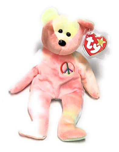 Ty Beanie Babies - Peace (Pastel) the Ty-Dyed Teddy Bear