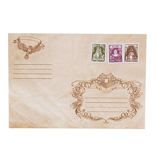 getDigital Owl Post Envelopes - Set of 10 Envelopes for Invitations or Greeting Cards - With a Wax Seal and Stamps inspired by the magical World of Harry Potter