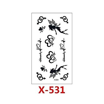 Sexy Black Feather Mandala Flower Tatuajes temporales Pegatinas ...