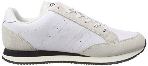 Ginnastica rwb Da Scarpe Rwb 020 Bianco Hilfiger Casual Sneaker Denim Basse Retro Uomo XwAxPY0q