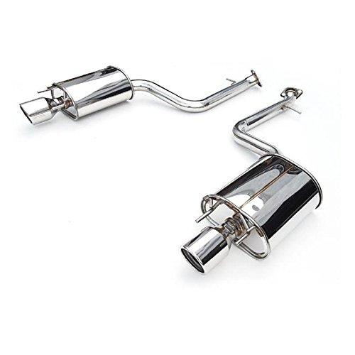 Titanium Tip Cat Back Exhaust - Invidia 07+ Infiniti G35/G37 Sedan 4dr Q300 Rolled Titanium Tip Cat-back Exhaust (hs07ig4g3d)