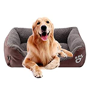 KOBWA Cama ortopédica para Perro, de Felpa Premium Impermeable ...
