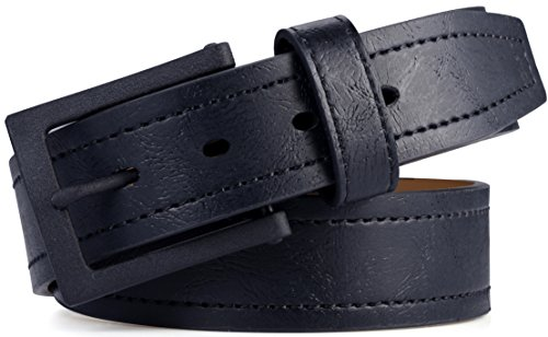 Marino Avenue Men's Genuine Leather Belt, Classic Jean Style, 1.5