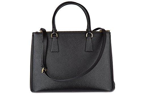 galleria sac lux noir à femme main Prada bandolulière Hv1WOOq