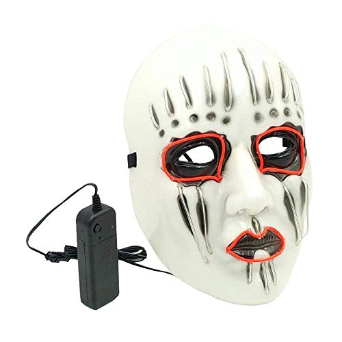 Meka-supplies - LED Mask Light Up Funny Masks Great Festival Cosplay Costume Props Supplies Glow In Dark Luminous Mask Halloween Party Masks ()