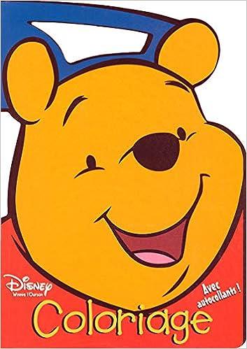 Coloriage Winnie L Ourson Avec Autocollants Amazon Fr Disney