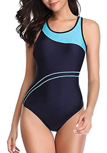 - YILISA Women's One Piece Swimsuits Sport Boyleg Athletic Training Pro Swimming Suit Boy Short Bathing Suits Swimwear for Teen