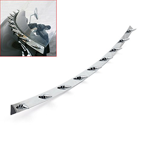 Areyourshop Spiked Chrome Batwing Fairing Windshield Trim Accent For Harley FLH (Fairing Accents)