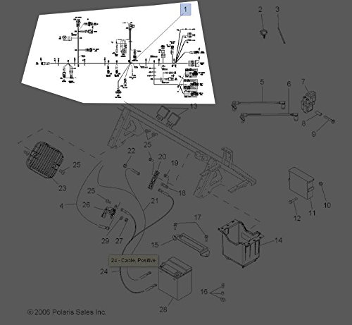 Polaris 2004-2016 Sportsman 700 Cam Position Sensor Harness Kit 2878077 New OEM by Polaris