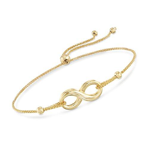 Ross-Simons 14kt Yellow Gold Infinity Symbol Bolo Bracelet ()