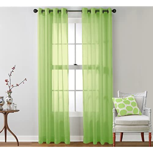 Lime Green Curtains Amazon Com