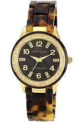 Anne Klein Women's 10/9956BMTO Swarovski Crystal Accented Gold-Tone Tortoise Resin Watch